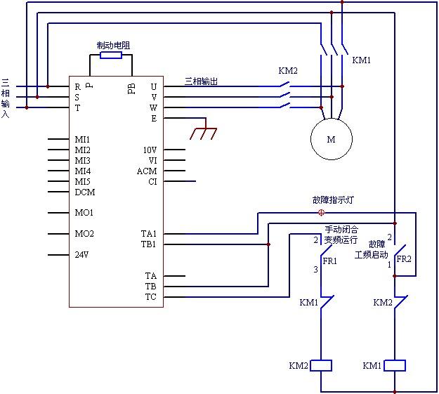 8极电机,大功率请减小此参数设置) 2,基本配线图 1,因陶瓷厂温度高,粉